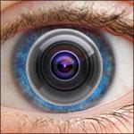глаз с видеокамерой