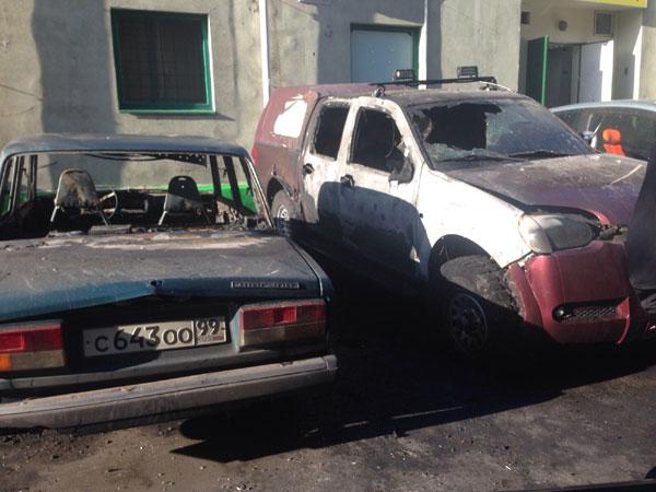 сгороевшие автомобили