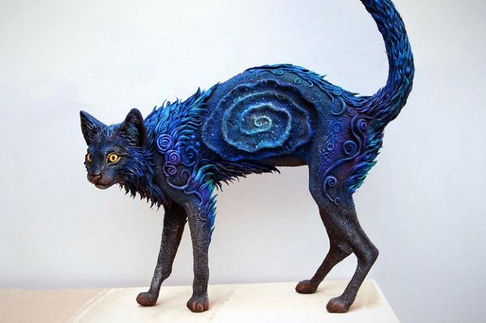 предмет интерьера, кошка