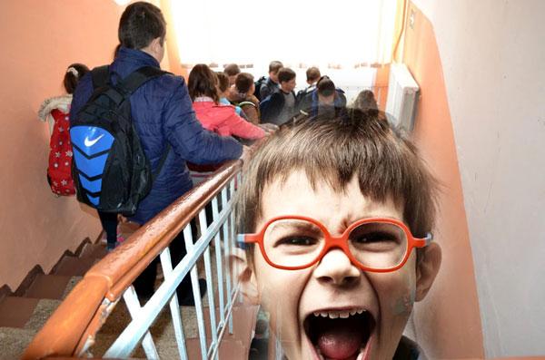 эвакуации в московских школах